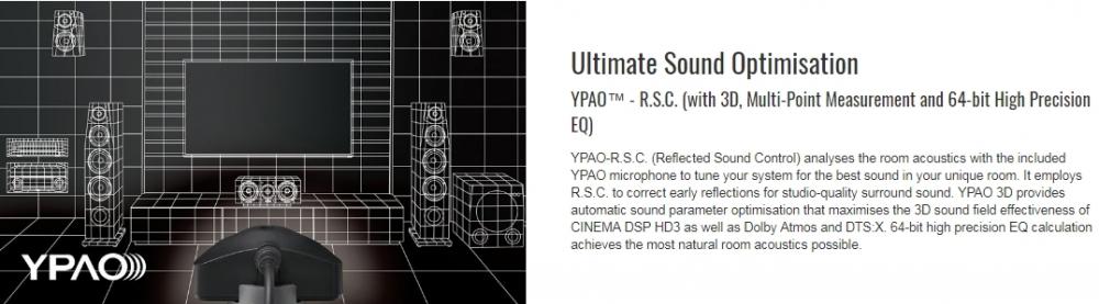 YAMAHA RX-A3080 Black AVENTAGE sērijas 9.2 AV resīveris