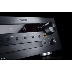 MAGNAT MC 200 Black Stereo resīveris CD, Bluetooth, FM, DAB+