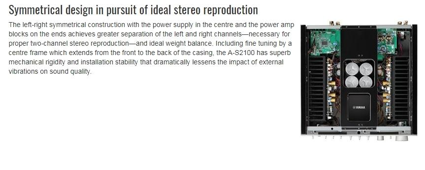 YAMAHA A-S2100 Black Stereo pastiprinātājs
