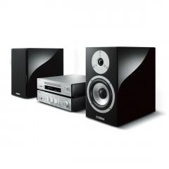 YAMAHA MCR-N870 Silver GRAND PIANO CRAFT Hi-Fi sistēma (Black speakers) (cena par komplektu)