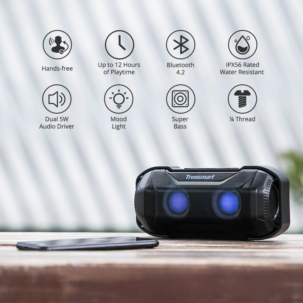 TRONSMART ELEMENT BLAZE Black Bezvadu Bluetooth® skaļrunis