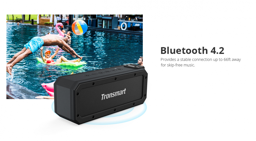 TRONSMART ELEMENT FORCE + Black Bezvadu Bluetooth® skaļrunis