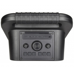 QTX EFFECT AQUA Black PA SYSTEM, IPX4 WITH WIRED MICROPHONE, BLUETOOTH/FM/USB/AUX, 20WRMS 8′′