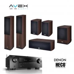 DENON AVR-X1600H / HECO VICTA PRIME 702/302/C102/SUB252A Espresso