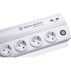 OEHLBACH Art. No. 17021 POWERSOCKET 905 HIGH-QUALITY MULTI-SOCKET OUTLET White